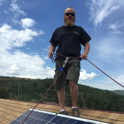 Josh Shiply, NABCEP certified PV installation Professional, Alternative Power Enterprises employee