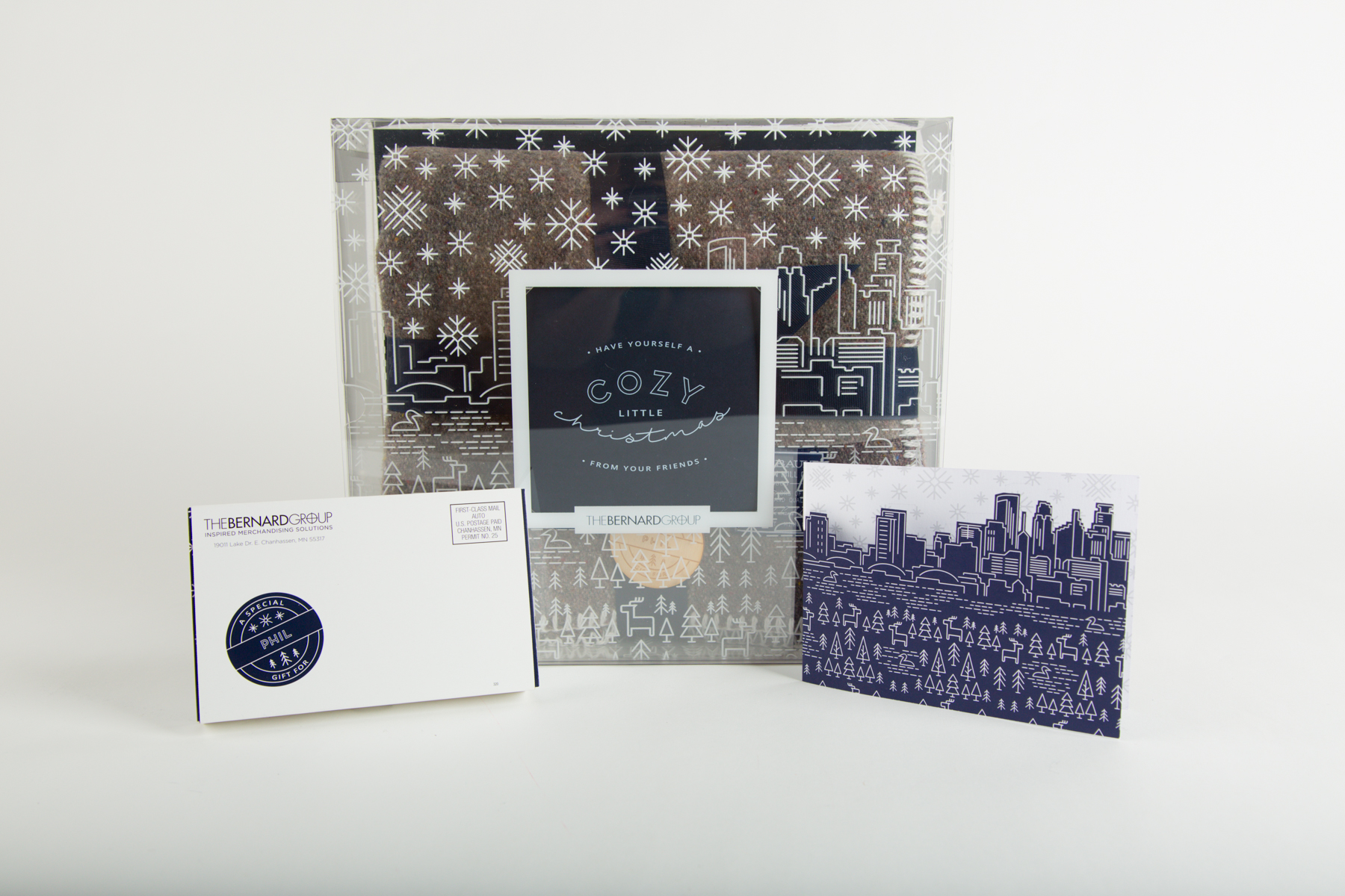 """The Bernard Group Holiday Gift Suite 2016 """"Cozy Little Christmas""""  Concept & Design"""