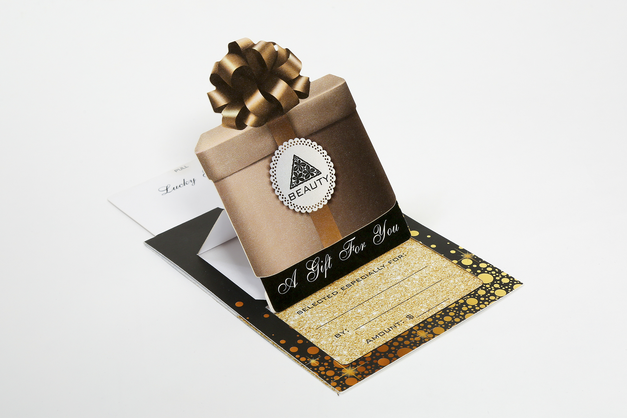 Digital Laser Cut Pop-Up Gift Card Holder  Concept & Design