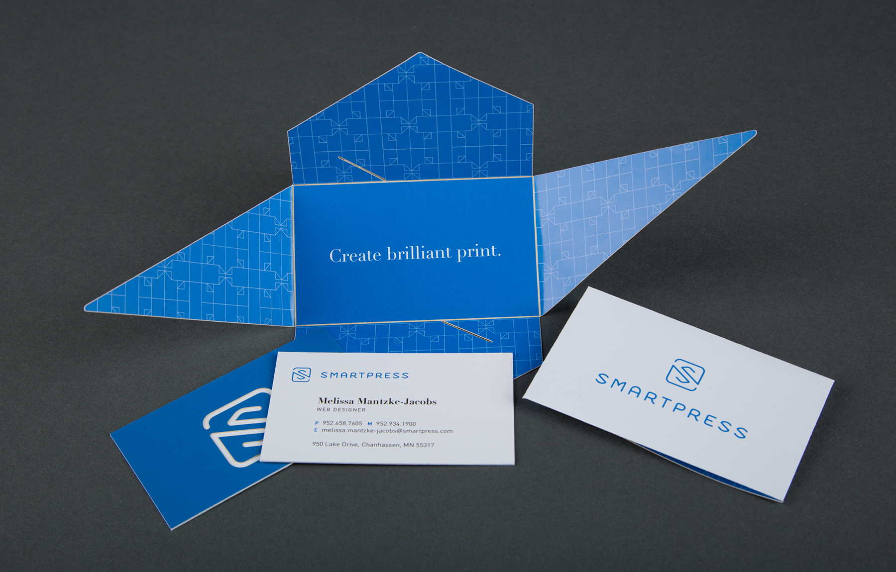 Smartpress Business Cards  Digital Laser Cut Wrapper and Double Layer Digital Laser Cut Mounted Business Card  Concep & Design