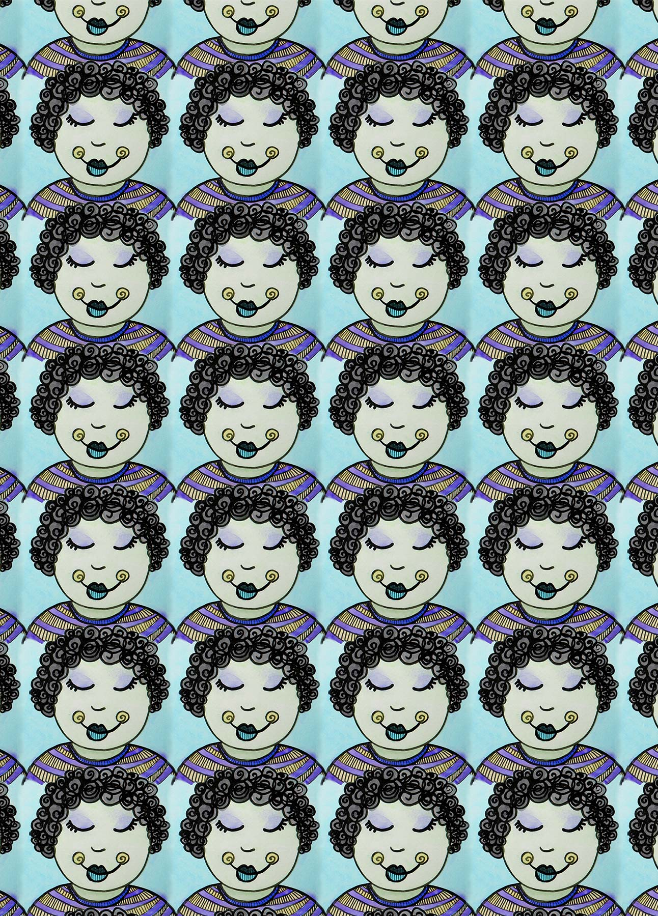 Curly Girl: Blue Colorway