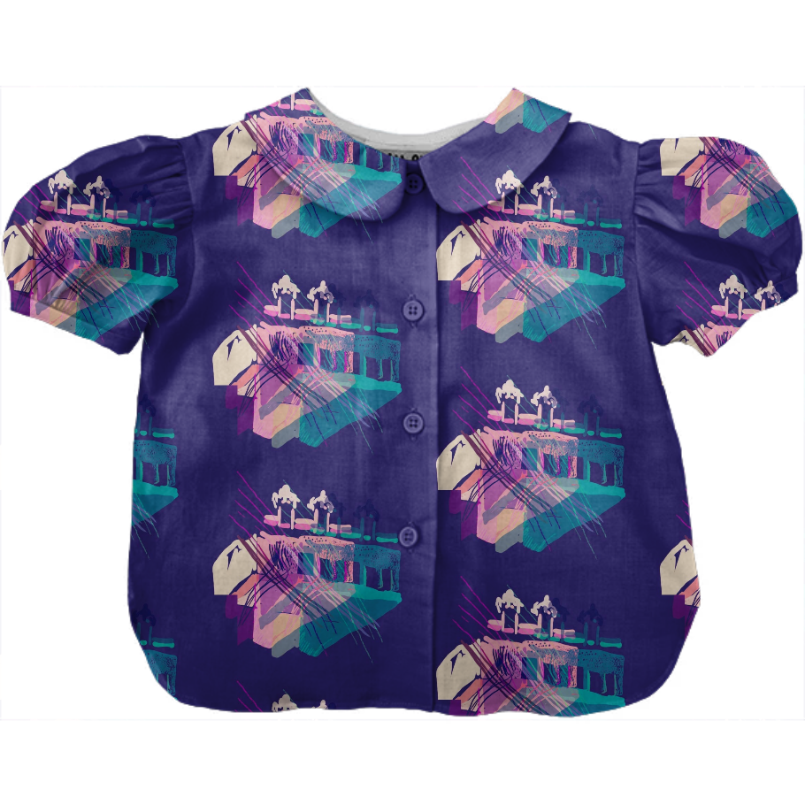 Bodchitecture: Cotton Candy Colorway on Kid's blouse