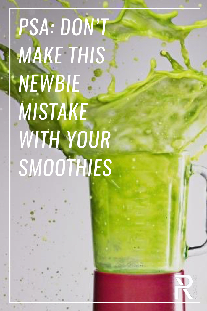Practice safe smoothing because green juice stains. Fasten your lids. Also... keep an eye on your blender. Seriously. A message from PR Coaching