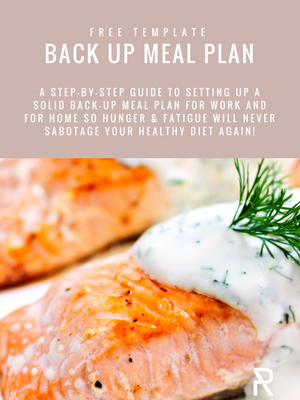 PR Coaching Back Up Meal Plan Printable | healthy meal planning | back up meal planning printable | healthy eating tips | healthy eating to lose weight | how to create healthy habits