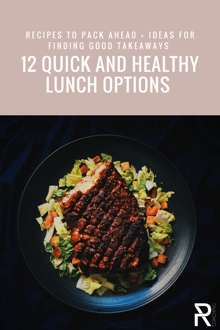 12 Quick And Healthy Lunch Ideas | lunch idea for work | healthy lunch ideas | paleo lunch ideas | sandwich-free lunch ideas