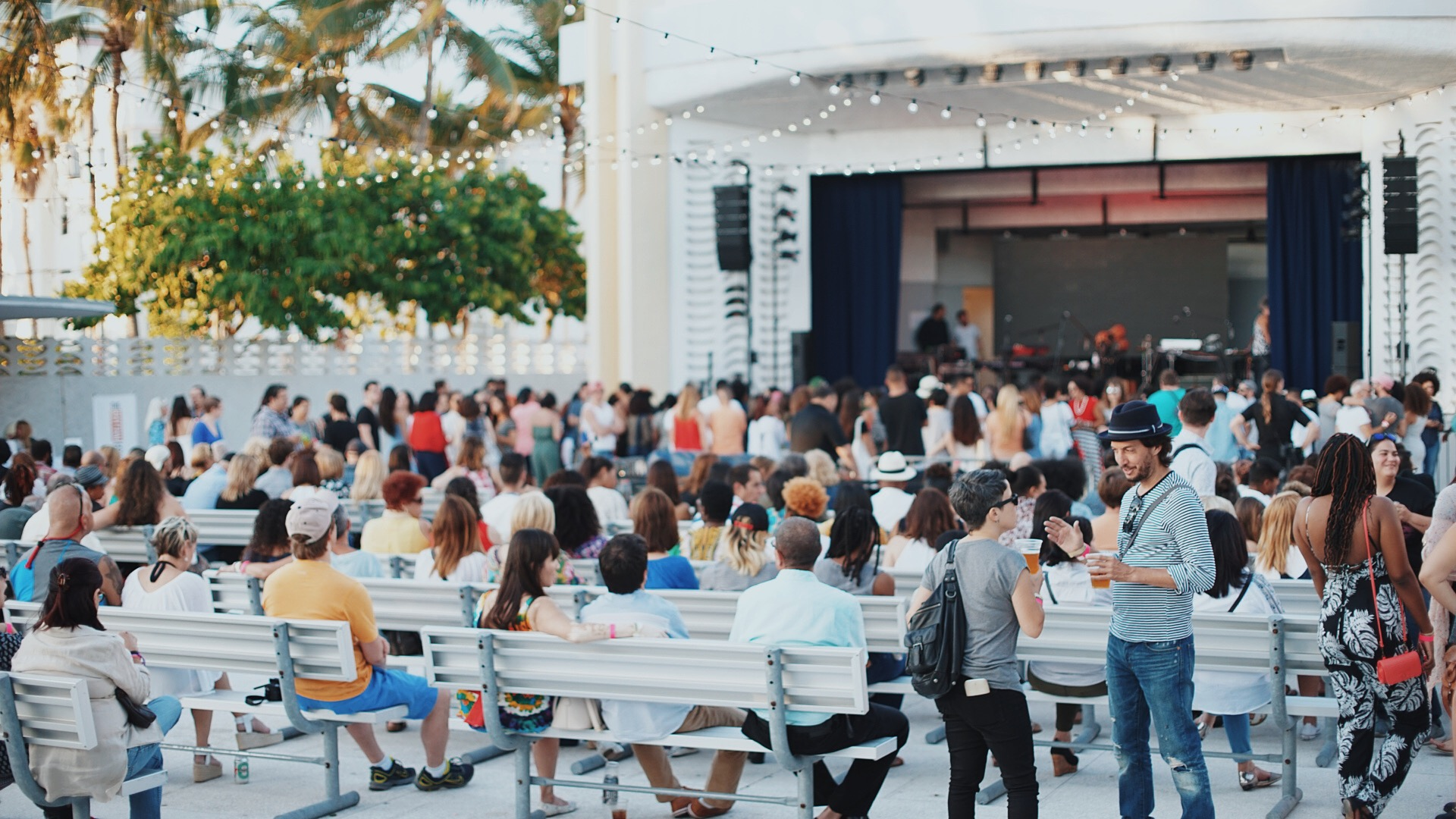 Sold out crowd for Ibeyi's show @North Beach Bandshell.JPG