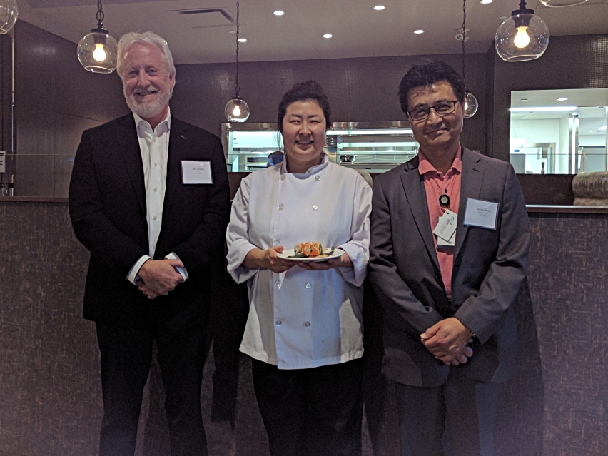 Bob Lindsay, Owner, Lift Bar and Grill, Soojin Park, Lift Executive Chef, and Damon Wong, General Manager, SSP Canada