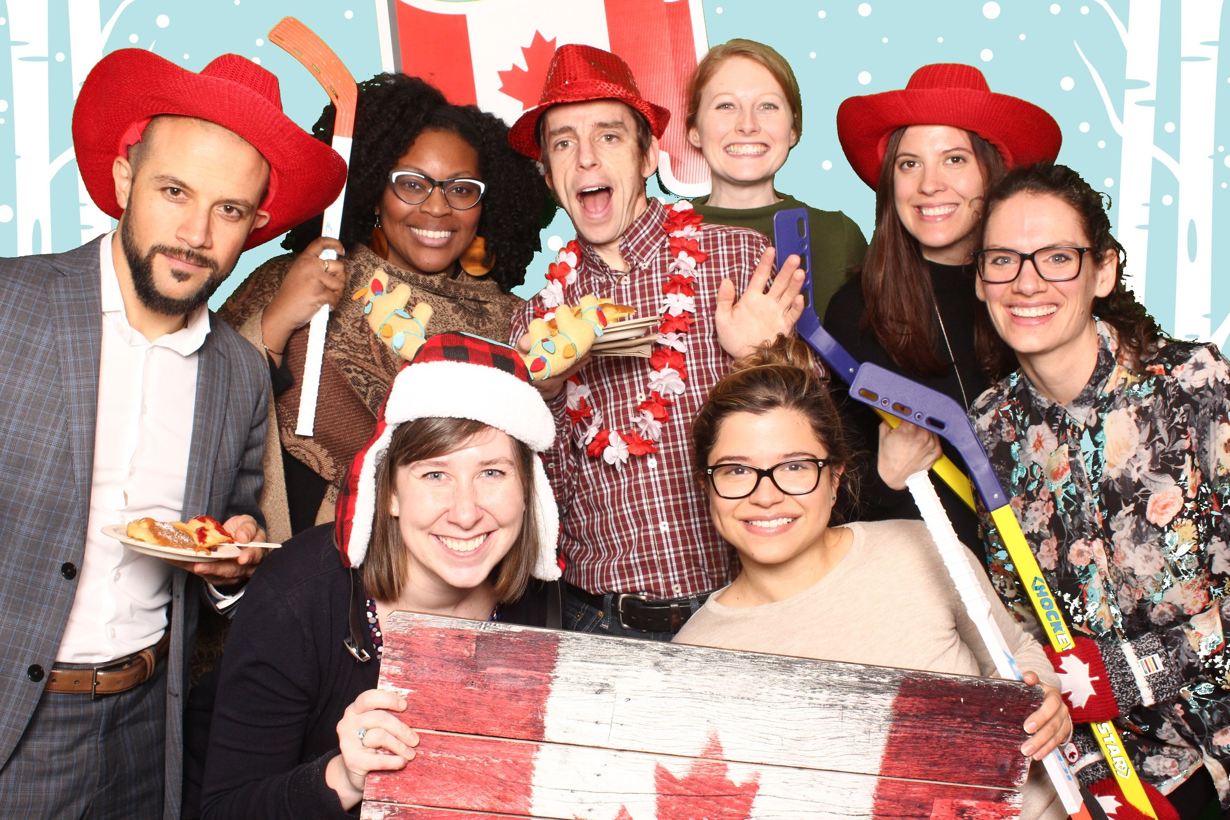 Photobooth fun at the WinterFest tenant event!