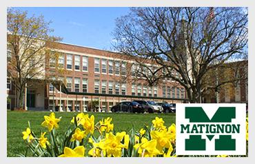 Matignon High School                        More>>>     Year Established: 1947   Location: Cambridge, MA  Type of School: Private HS. CO-ED   Grades: 9-12  Average Class Size: 18