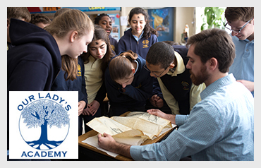 Our Lady's Academy                          More>>>     Total Enrollment: 330   Location: Waltham, MA  Type of School: Private HS. CO-ED   Grades: Pre K-8  Teacher to Student Ration: 1:9