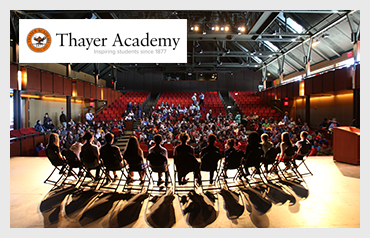 Thayer Academy                             More>>>     Year Established: 1877   Location: Braintree, MA  Type of School: Private HS. CO-ED   Grades: 6-12  Average Class Size: 14