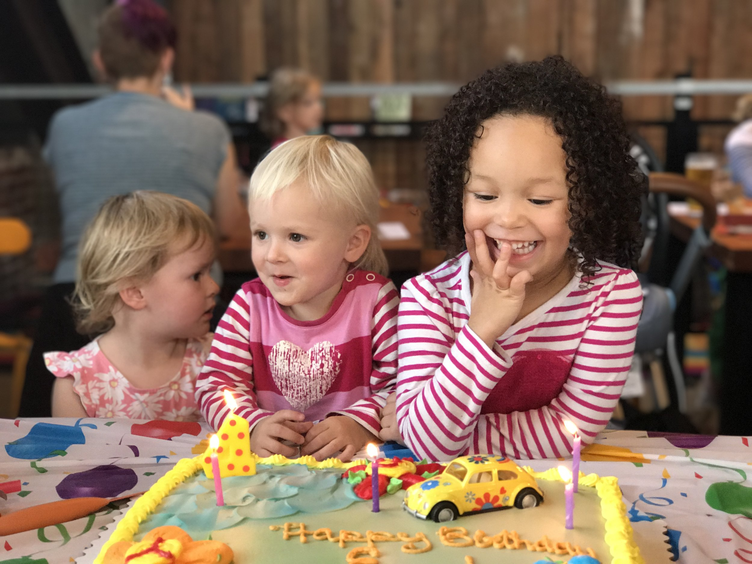 Kids Party Inquiry - We love kids and have a dedicated play area.  Optimism is a good place for some kids parties, but not all.