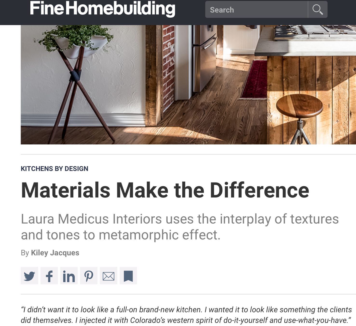 "Fine Homebuilding, June 2019 - ""Materials Make the Difference"""