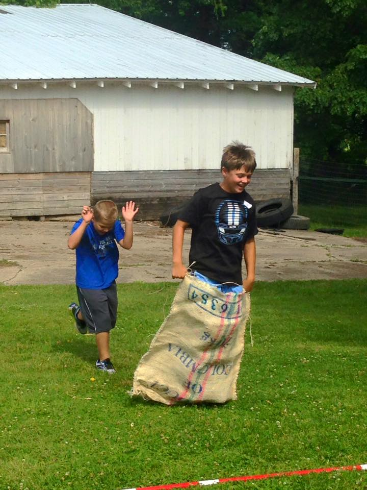 Potato sack races
