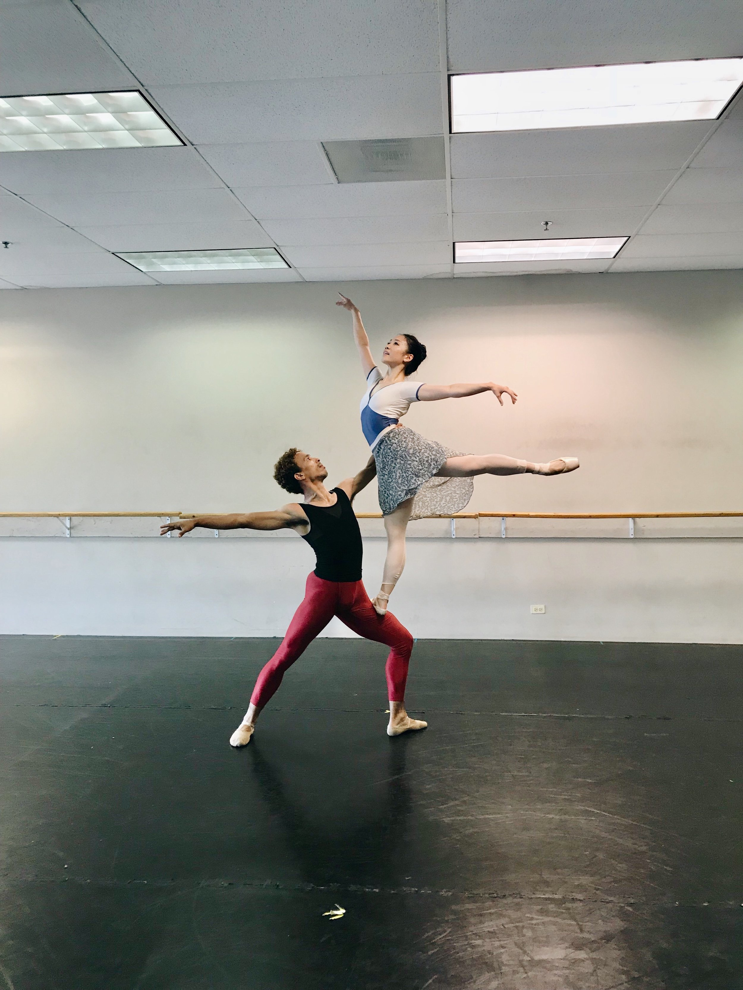 Rehearsing the role of the Narrator in  The Space in Between . (Ballet 5:8, 2018)