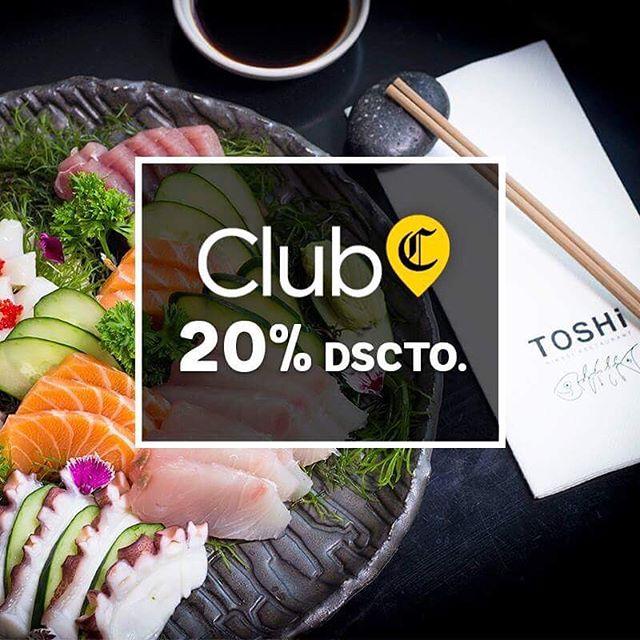 ¡Promo exclusiva para los Suscriptores del @clubelcomercio.pe ! Aprovecha 20% en toda la carta hasta lo que queda de este año y visítanos cuando quieras.😊😎🔝 . Mira los términos y condiciones acá 👉 http://bit.ly/2M8HR45 o en nuestro post de Facebook. . . . . . . #toshi #nikkei #lovefood #love #instagood #makis #sushi #picoftheday #food #instagram #instamood #photography #foodporn #instafood #instacool #gastronomy #foodstagram #peruvianfood #comidajaponesa #japanesefood #Lima #Peru #gourmet #toshifans #trendy #instafoodies #fooddies #promotion