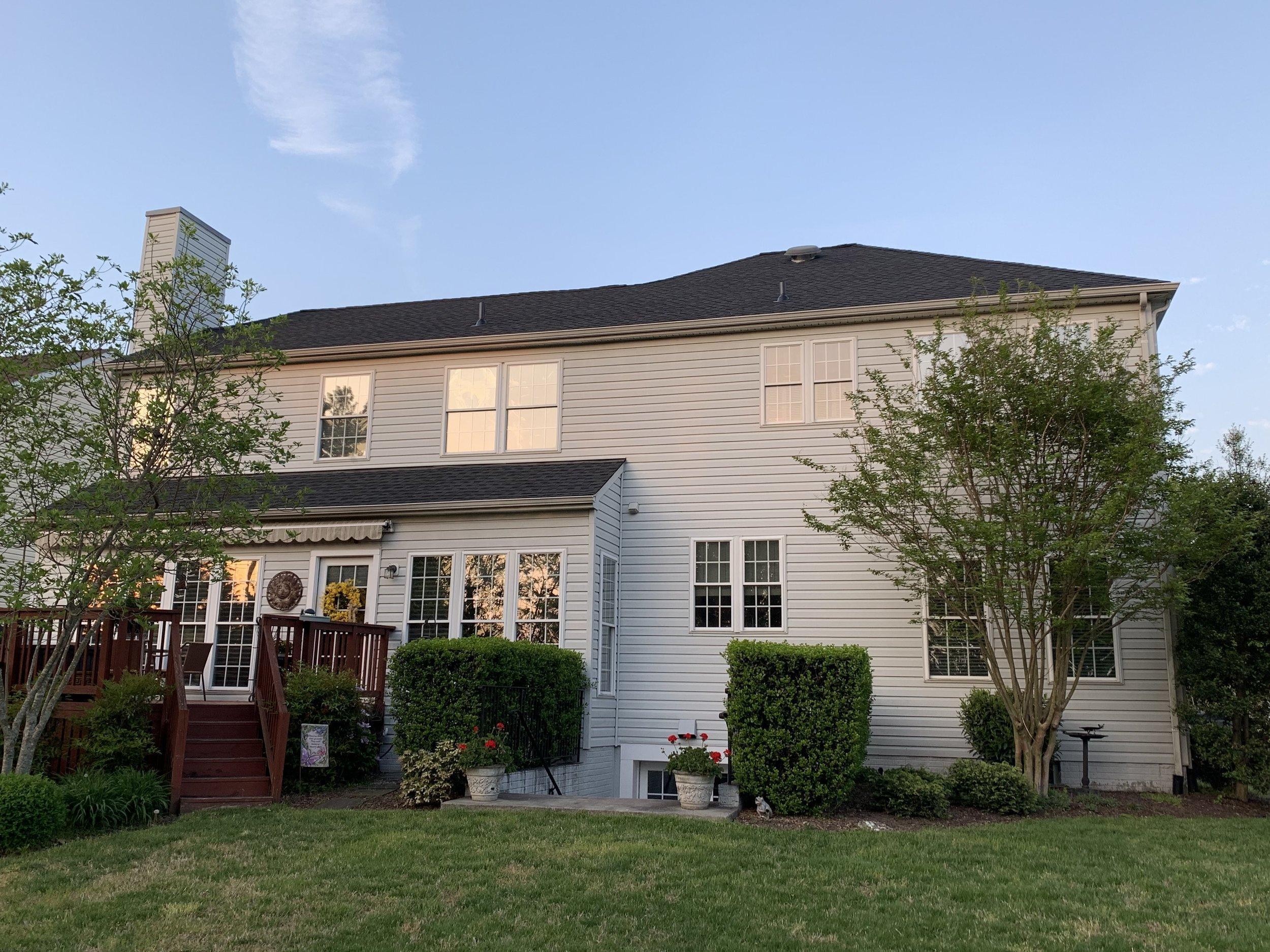 A view of the Mackrell family's beautiful home at sunset!