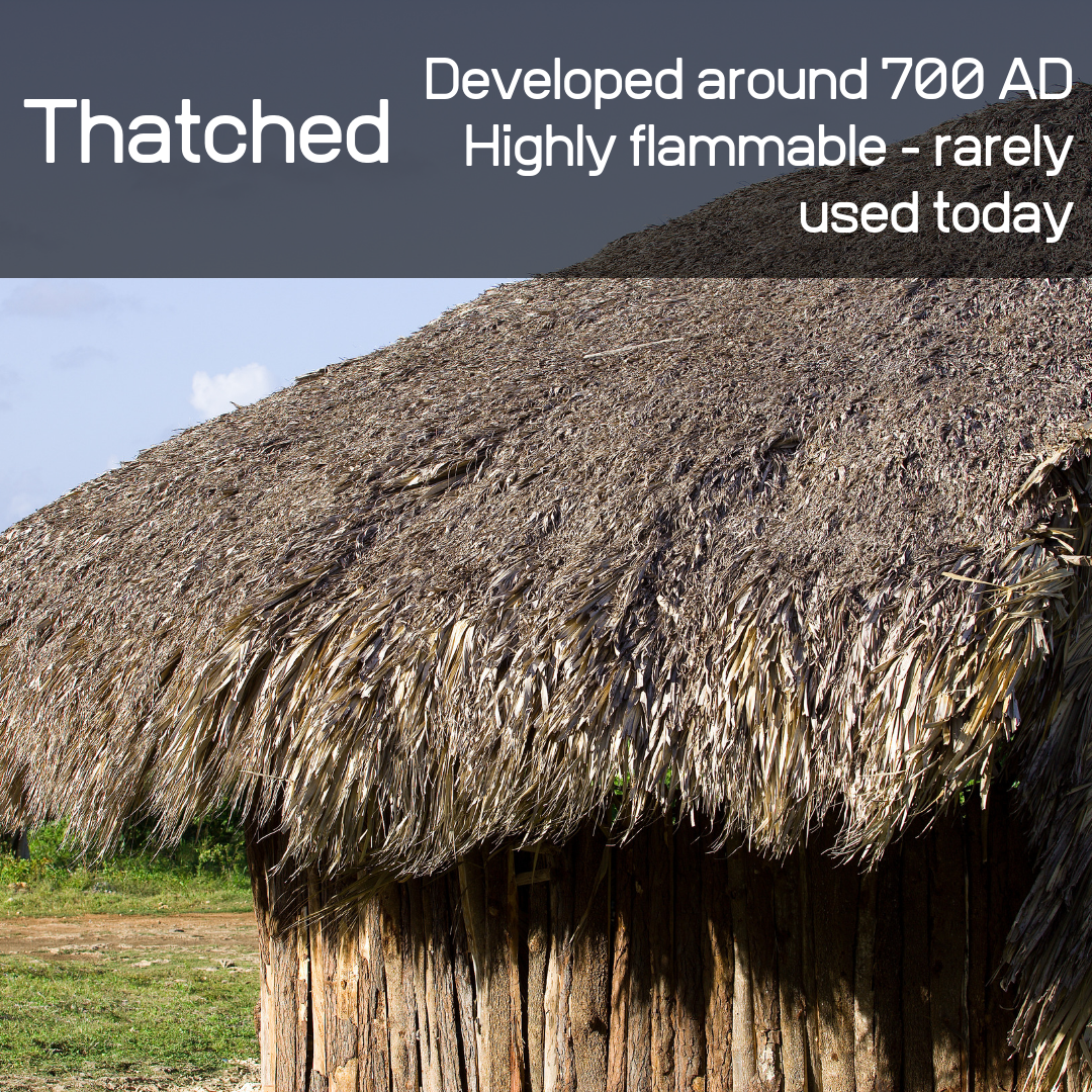 Straw, palm branches, and much more compiled the components of a thatched roof!
