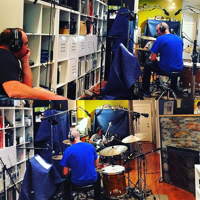 The Rythm Kings; Kev V and Kev G laying it down sweet and heavy. #sharktankpro #drums #bass #studiolife #session