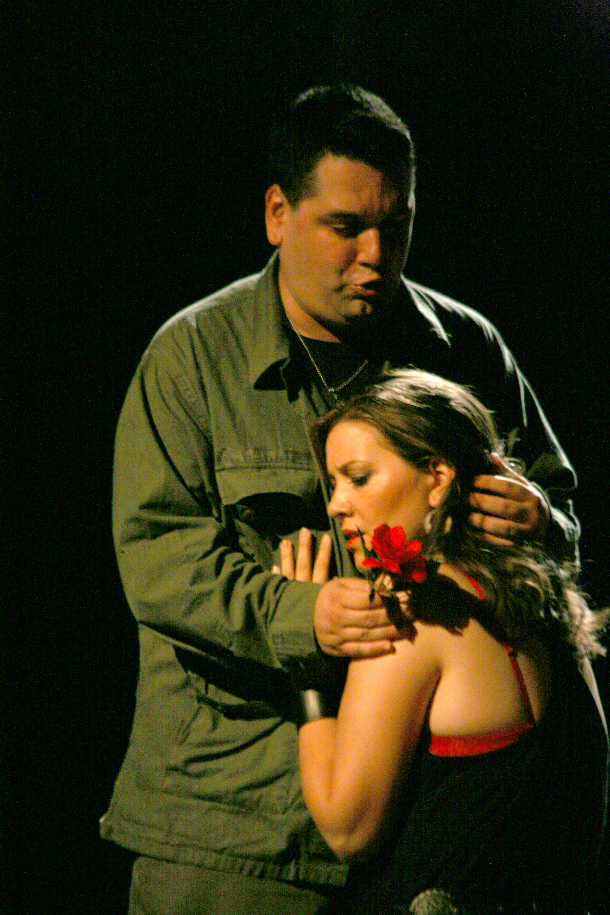 As Carmen in  La tragedie de Carmen