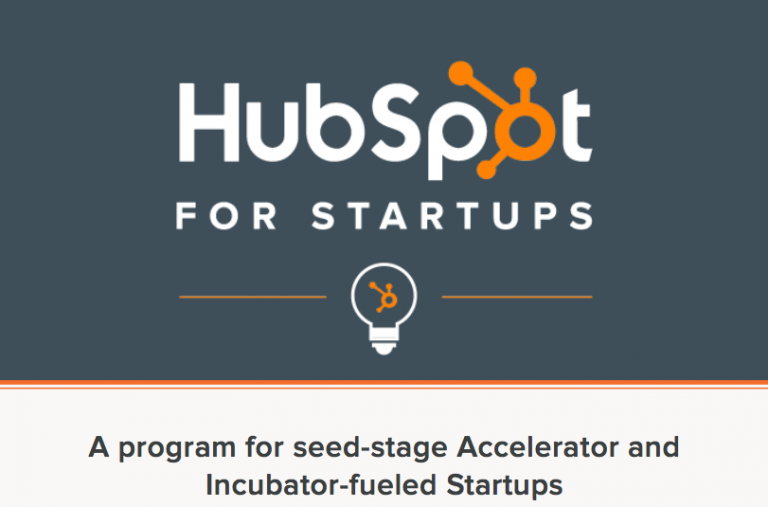 HubSpot's Discount Program for Early Stage Companies