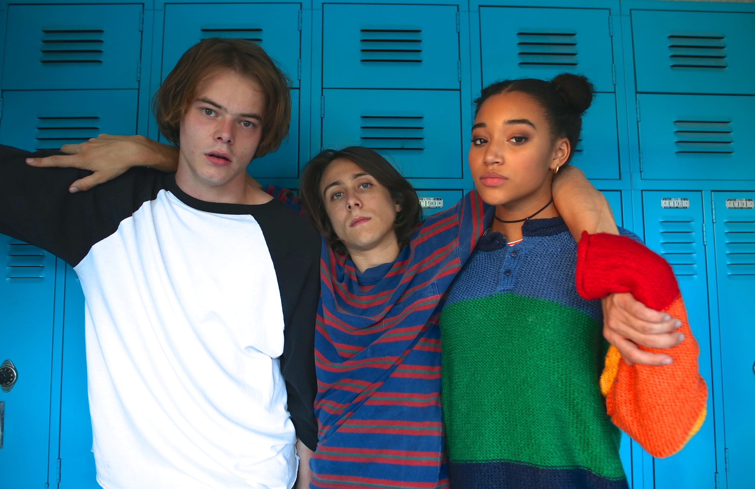 (from l to r) The lead actors in As You Are: Charlie Heaton, Owen Campbell & Amandla Stenberg