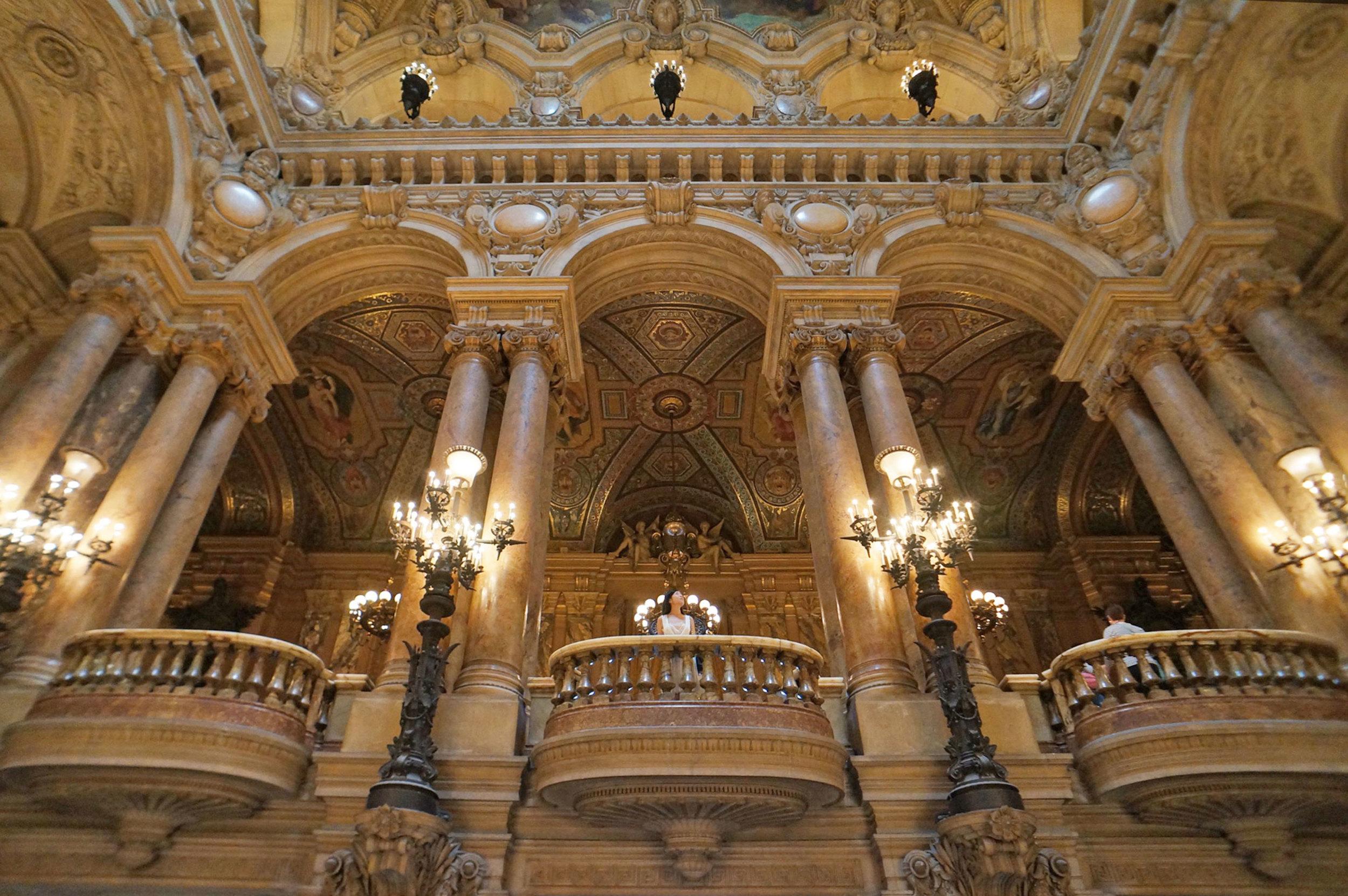 Palais Garnier  was so hauntingly beautiful
