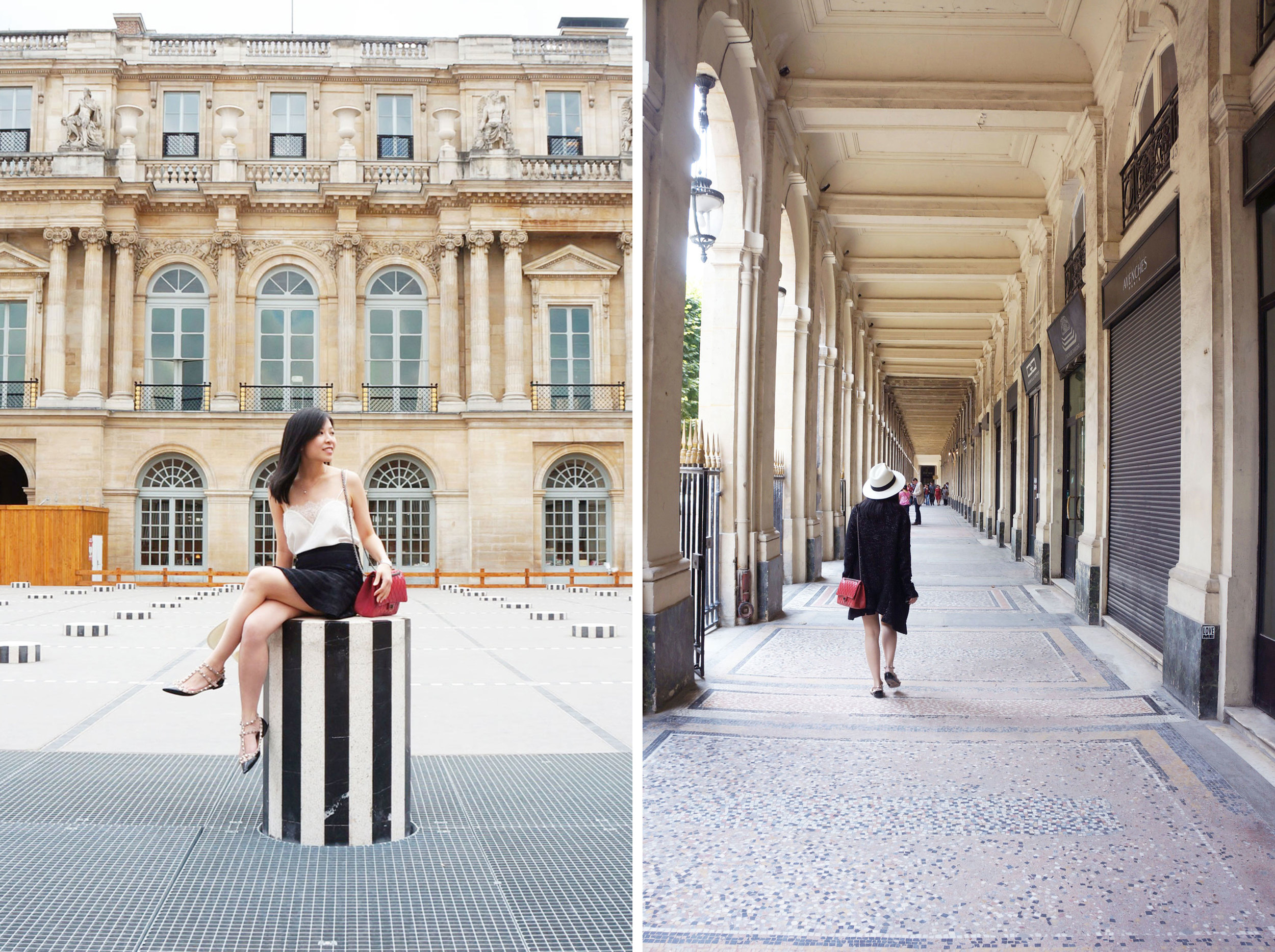 Palais Royal and Daniel Buren's Les Deux Plateau