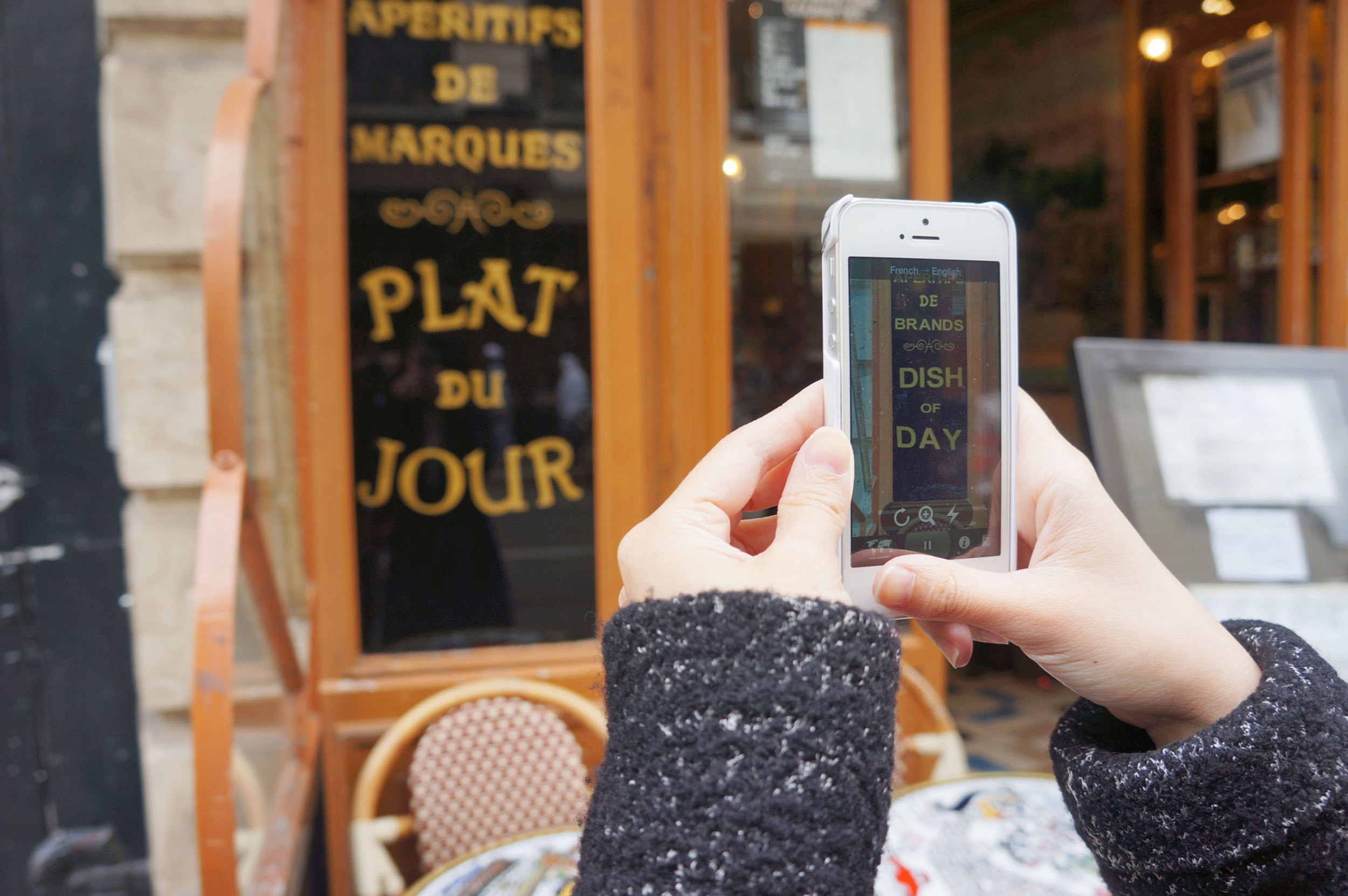 Wordlens  was such a great app in helping us figure out french menus!
