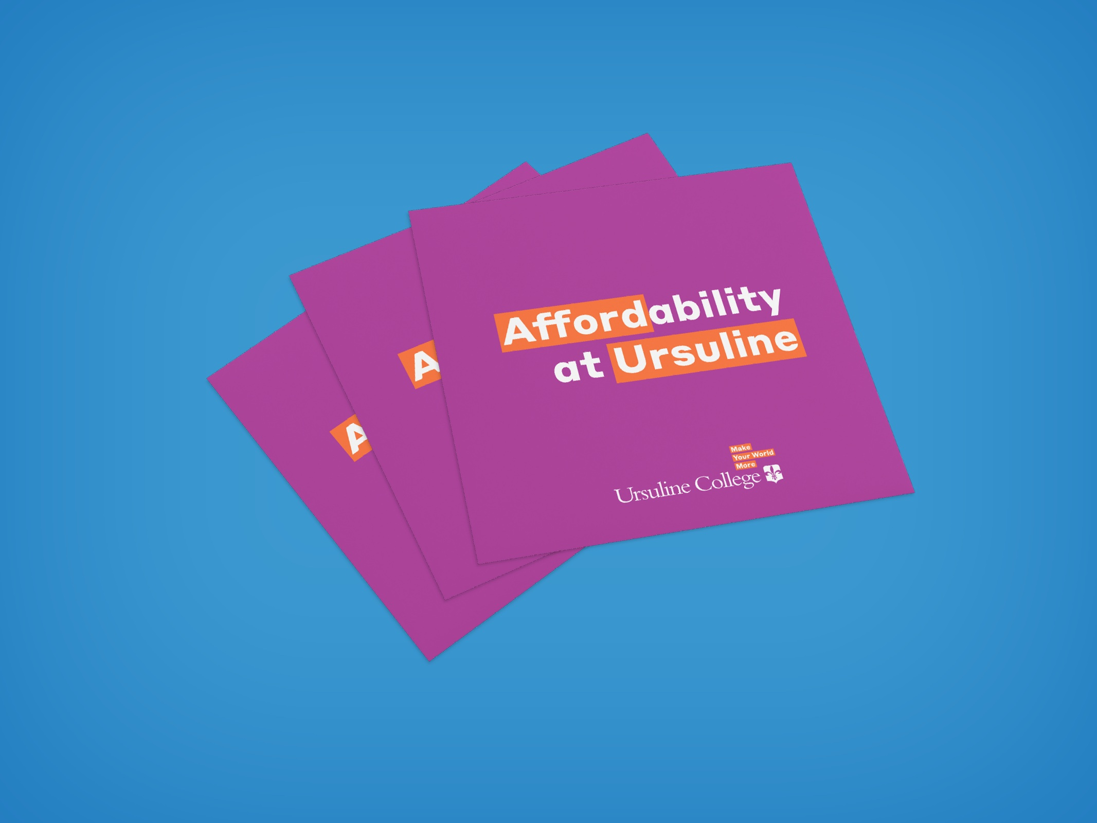 Affordability at Ursuline brochures