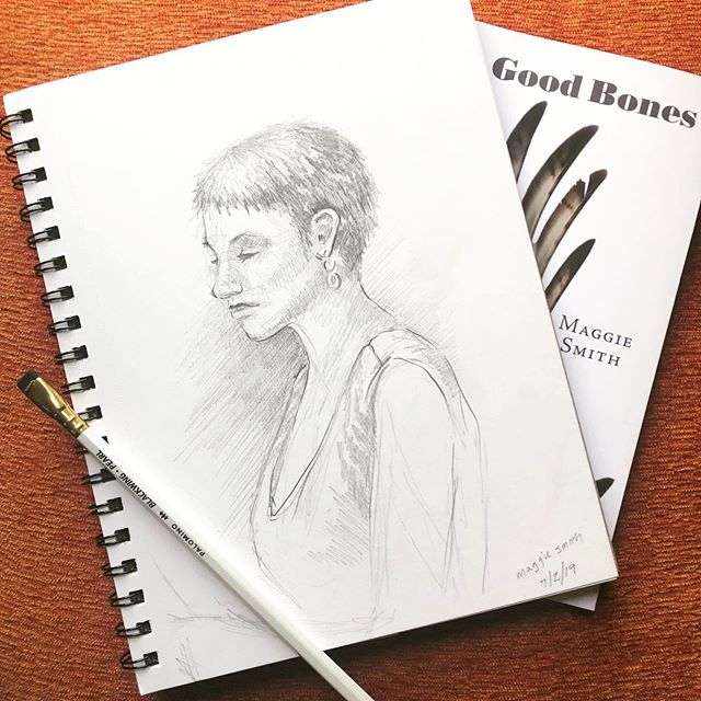 Sketches from this month's @brewsandprose event, celebrating 7 years of monthly readings from local and national authors. Last night's readers were @maggiesmithpoet and @marycommanorris - both an absolute delight.  For anyone who doesn't know, Brews+Prose is a free reading series, held the first Tuesday of every month at Market Garden Brewery. My favorite part of B+P is discovering so many talented writers I wouldn't have otherwise been exposed to, and then immediately spending all my money on their books (sold at the reading by Cleveland's own Mac's Backs). Pro tip: if you buy a book at the reading, you get a free beer. Easily the best deal in Cleveland.