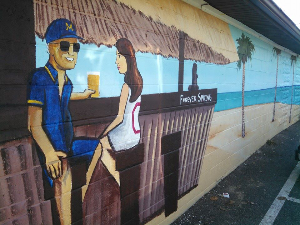 Outside Bar Mural - Unc's Patio, Auburn, Ohio