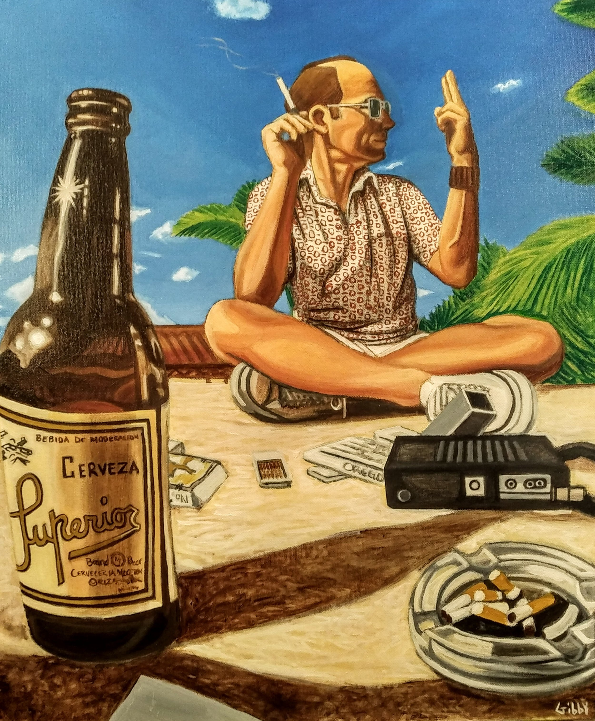 Portrait of Hunter S. Thompson