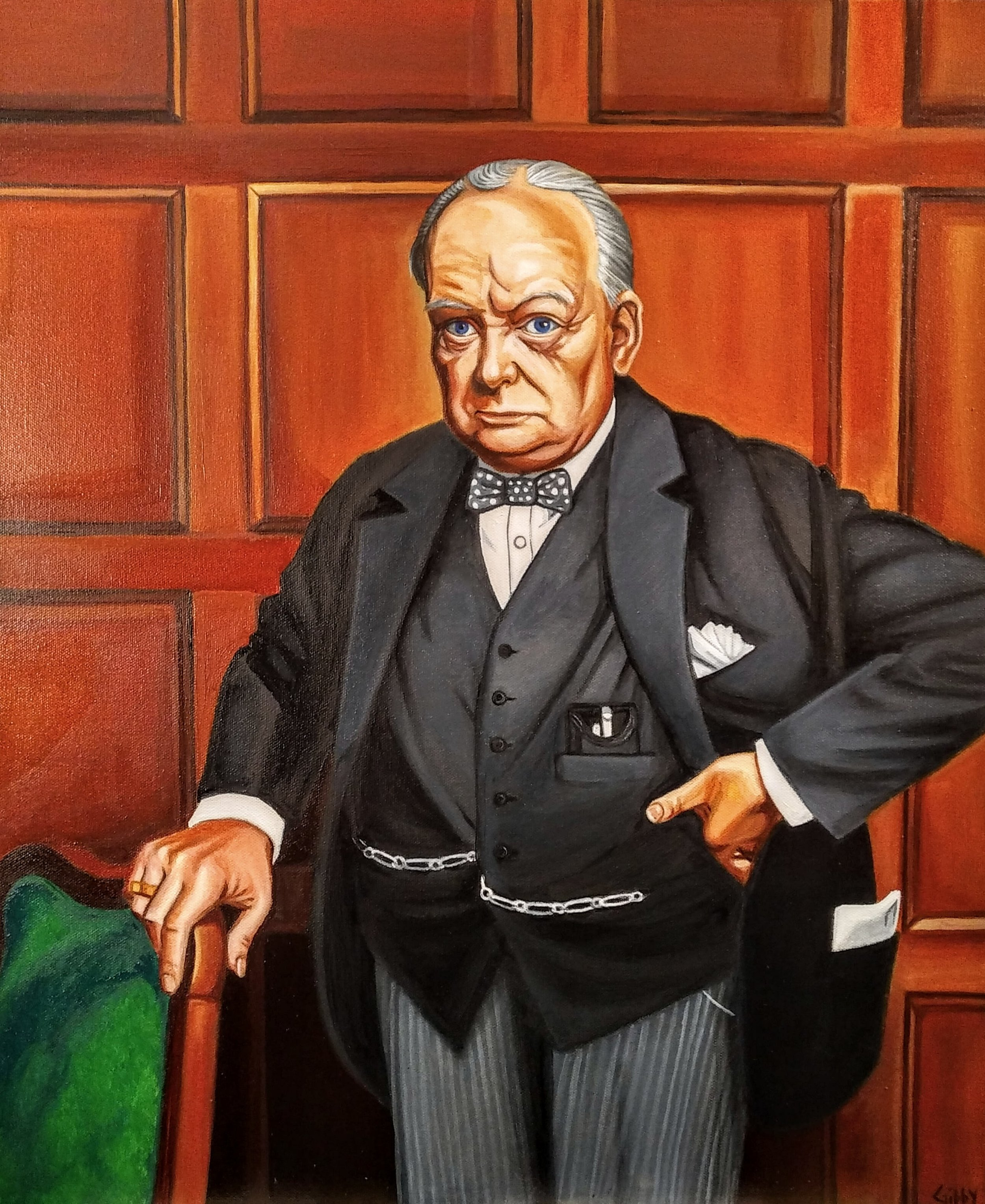 Portrait of Sir Winston Churchill