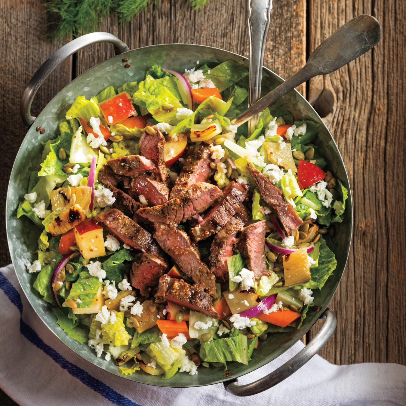 Content Marketing Steak Salad