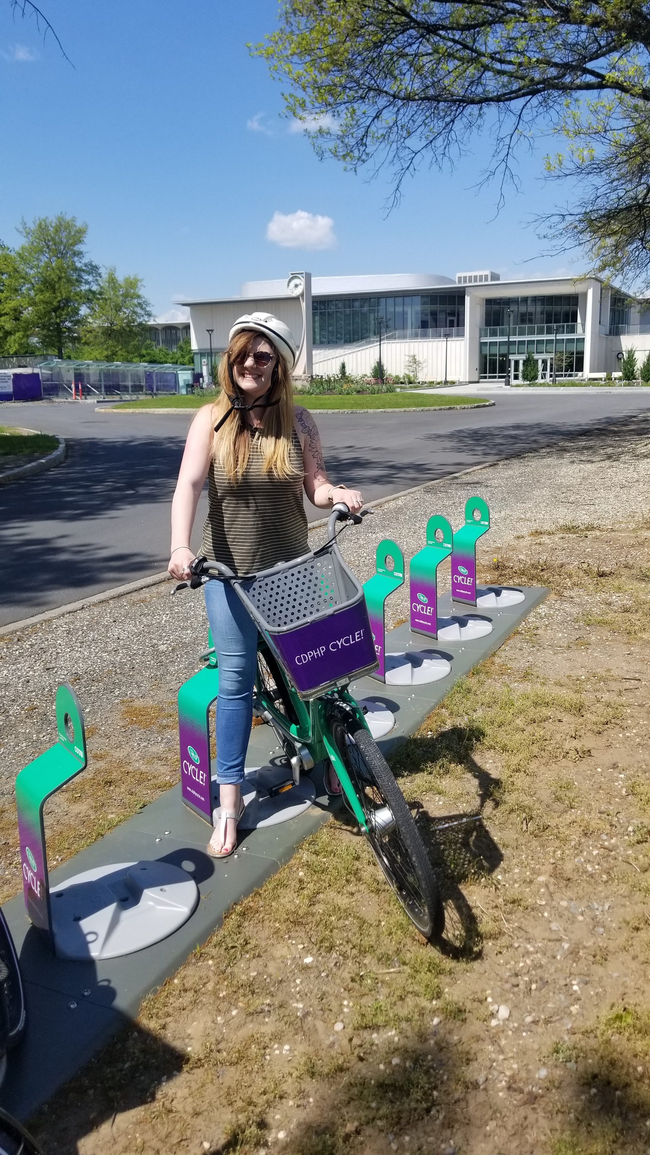 Girl on CDPHP Bicycle