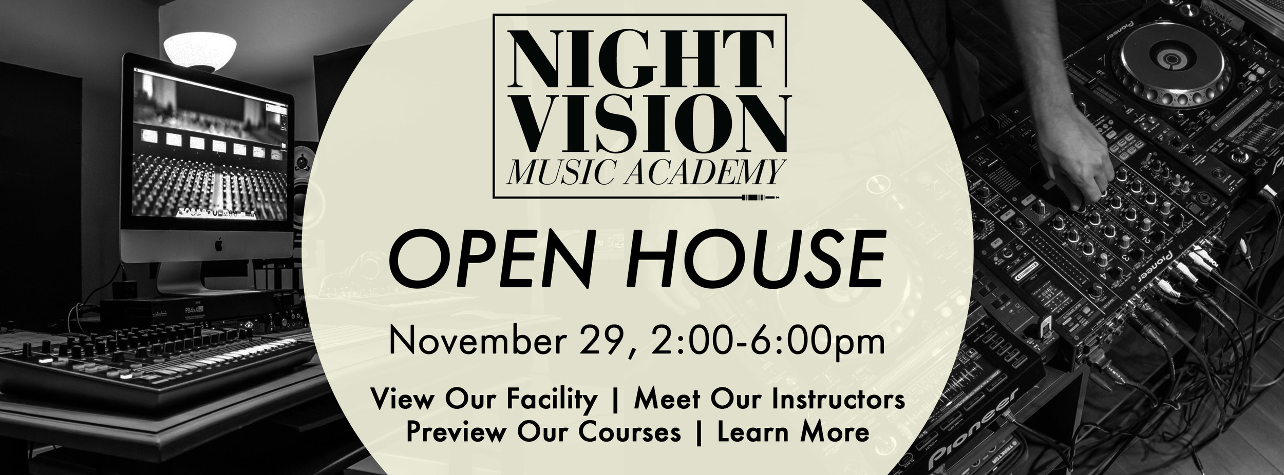 Open House for Music Production courses