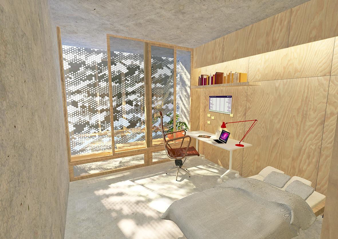 UQ SRP Typical Bedroom & Balcony Perspective