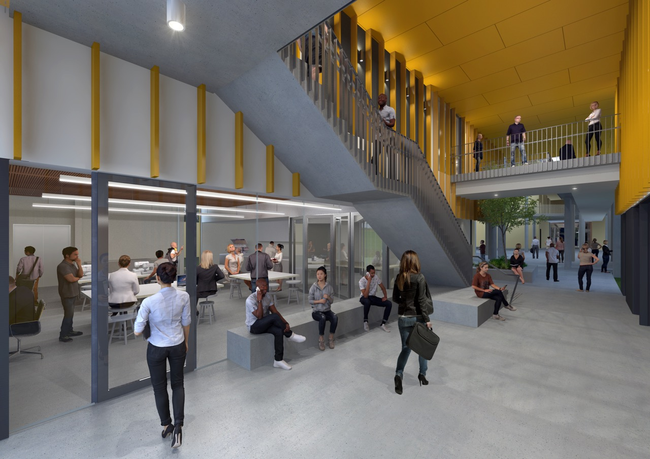 The new building offers a number of new flexible teaching areas which achieve teaching configurations suitable for small, medium and large student cohorts.