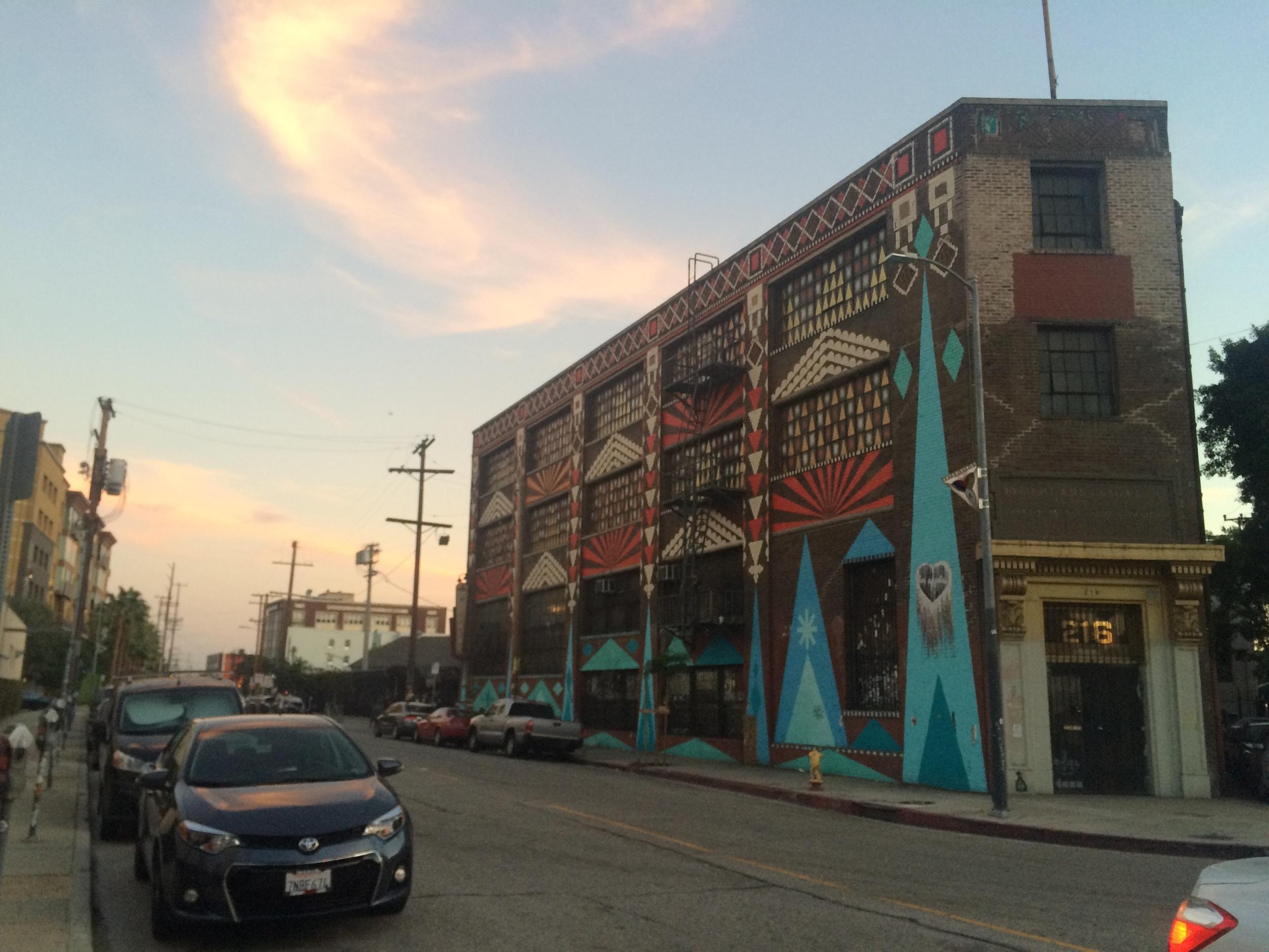 2nd & Alameda. Building mural by Shrineon.