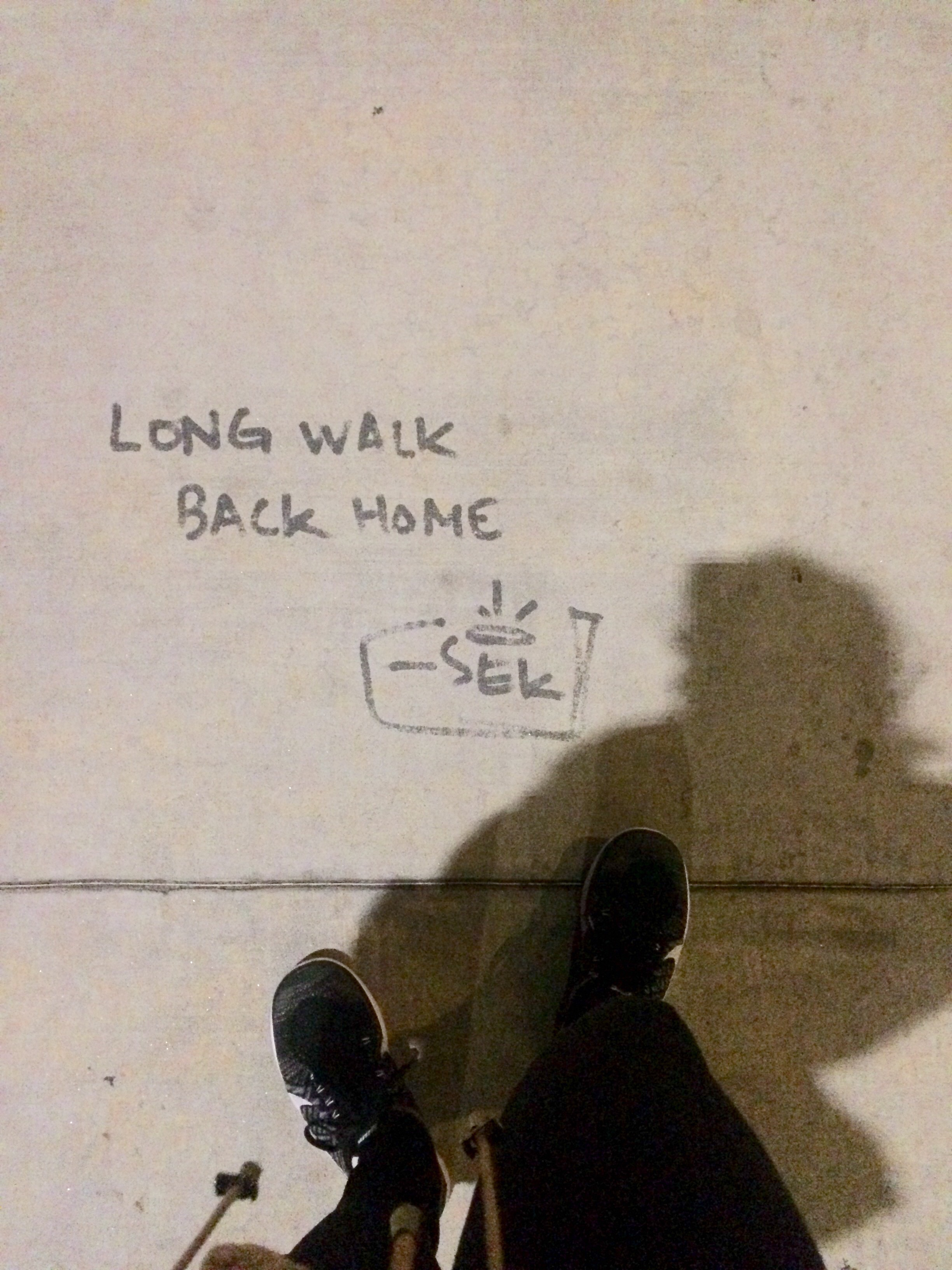 Sometimes it feels like it's going to be a long walk home