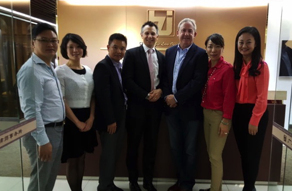Hawkesbury at offices of Huazhijie Lawyers, Guangzhou 2015