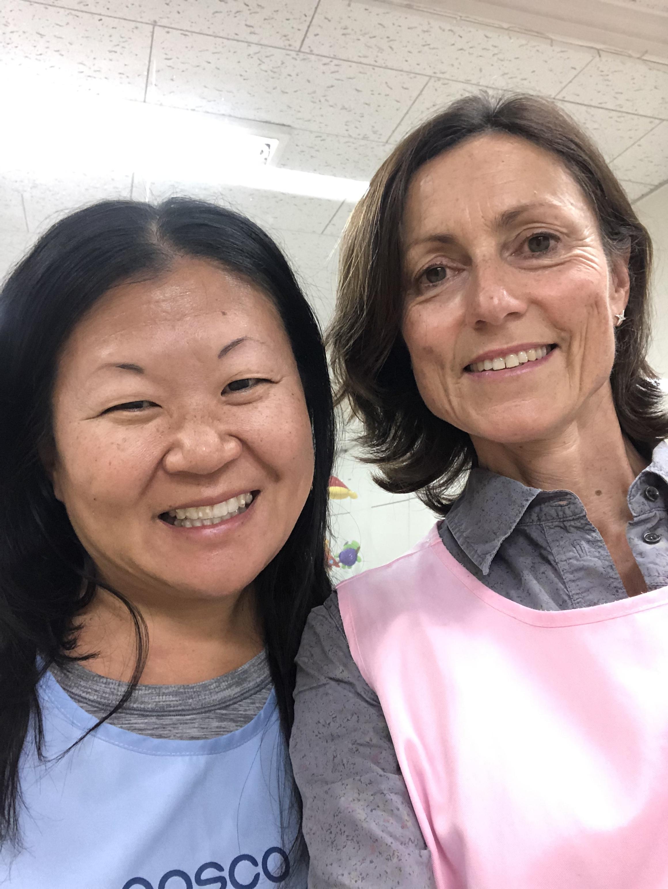 me with fellow volunteer, Carol, from the U.K.