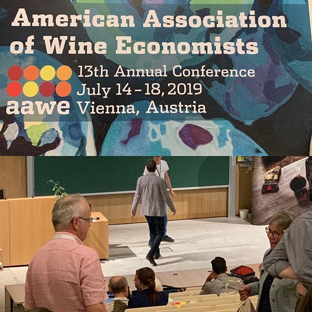 Tomorrow we are on! Presenting my findings from last year's research on wine buying behavior under crowd-sourced rating influence. American Association of Wine Economists . . . #viennaaustria #aawe #wineresearch #mastersofwine #winedad #winenerd #notasomm #wineretail #winepro