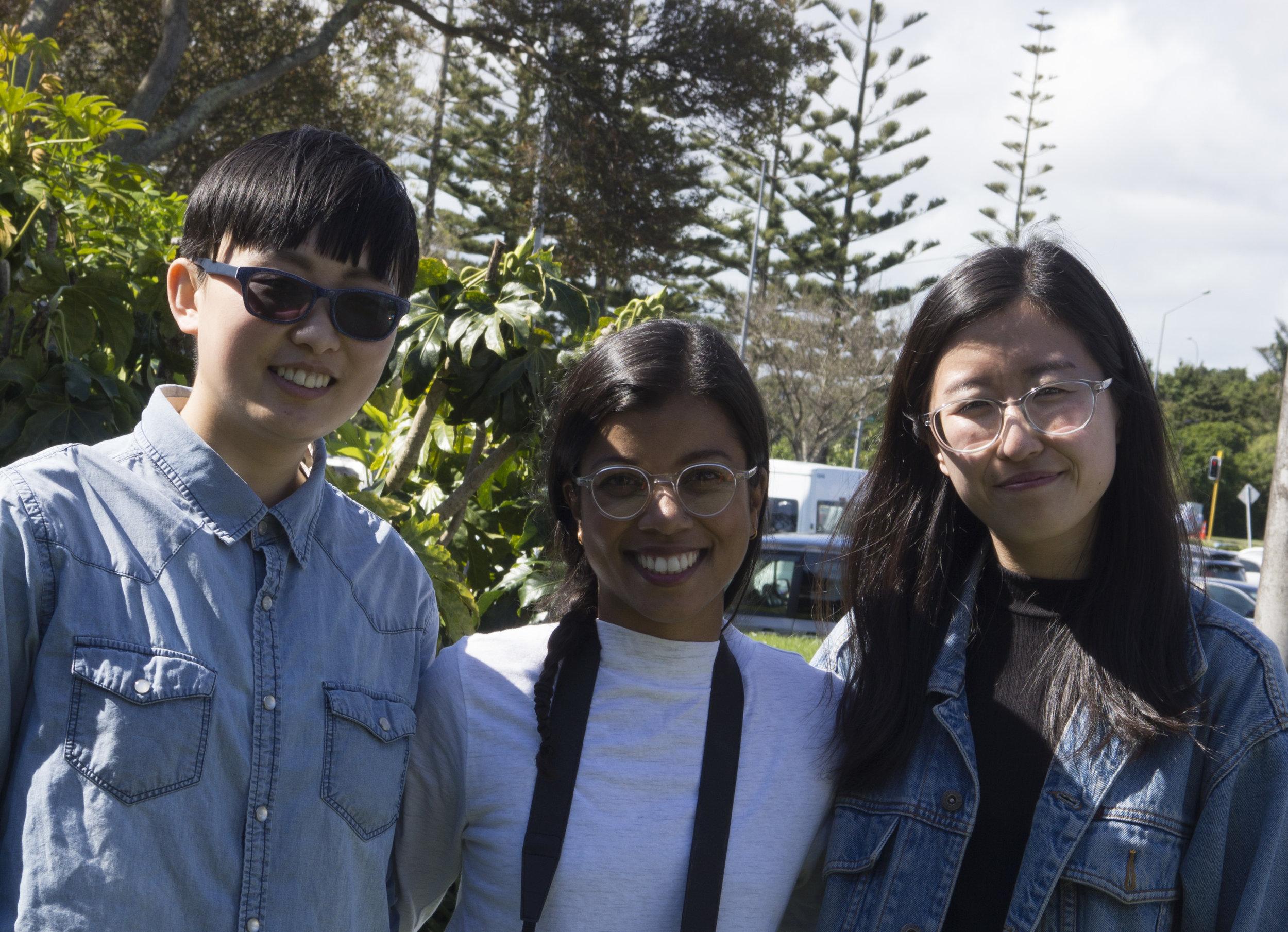 Shivani Karan with Youth Project Coordinators from Shakti Youth, New Zealand