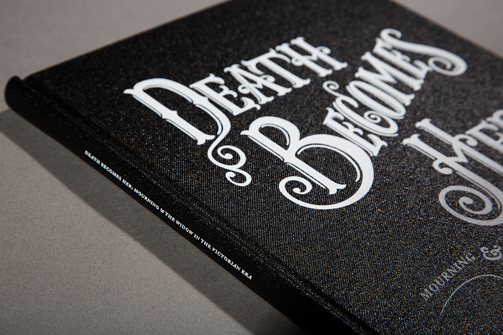 The cover was custom lettered in the style of Victorian typography