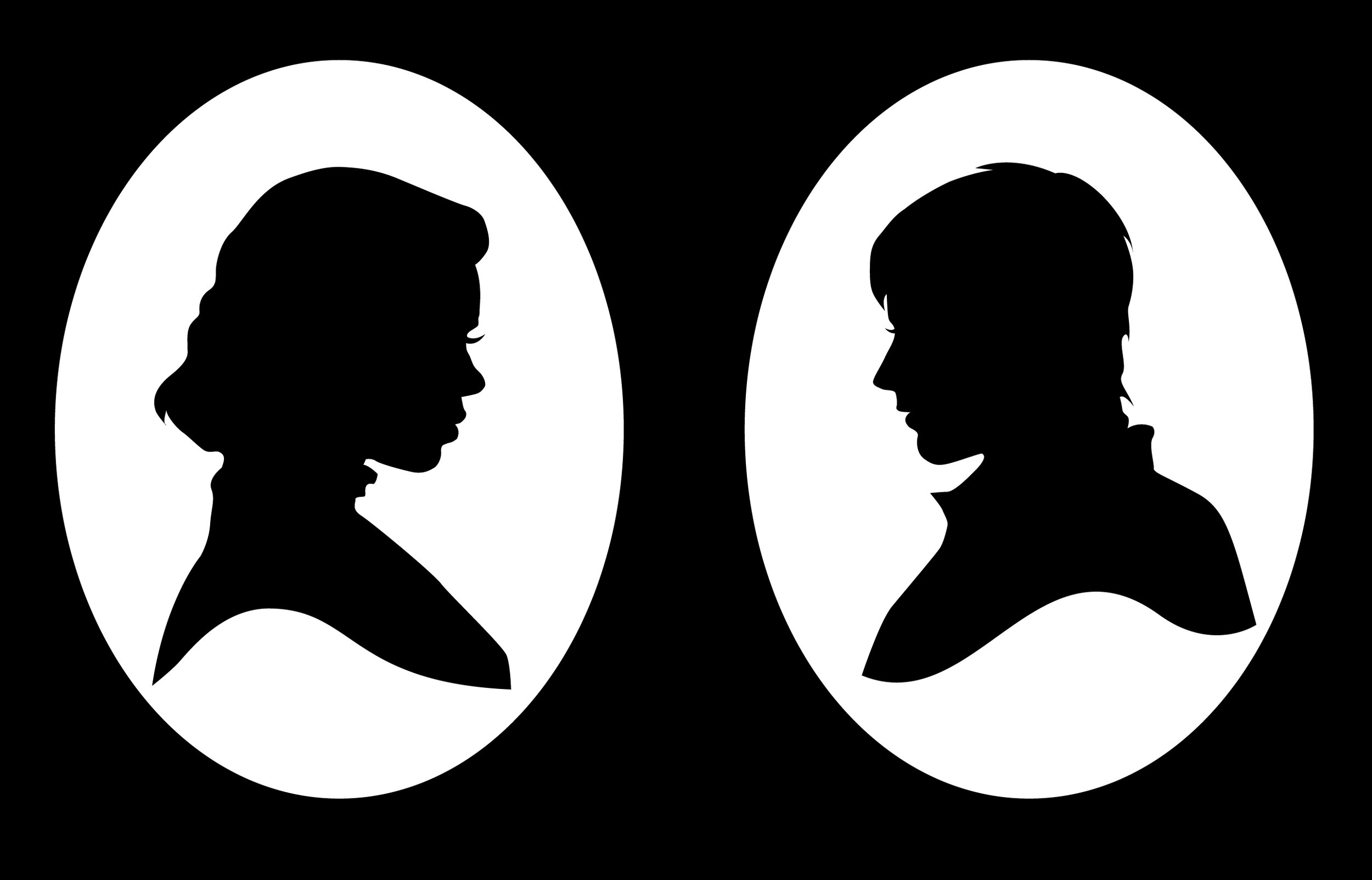 Penny Dreadful  silhouettes: Lily, the Bride of Frankenstein and Dorian Gray
