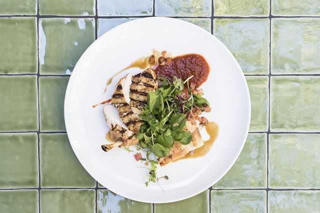 CHICKEN BREAST $30⠀ chargrilled, potato and jamon gratin, spiced tomato, watercress, jus
