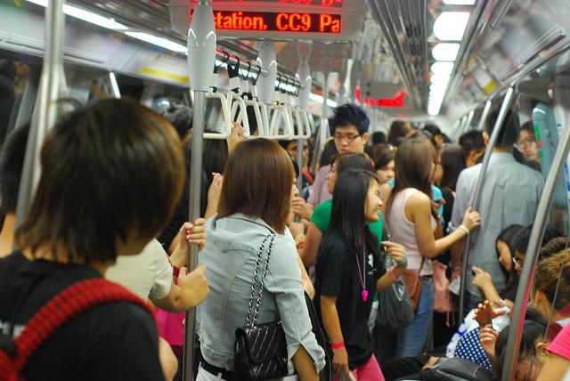Yellow line MRT. Photo by  daarwasik