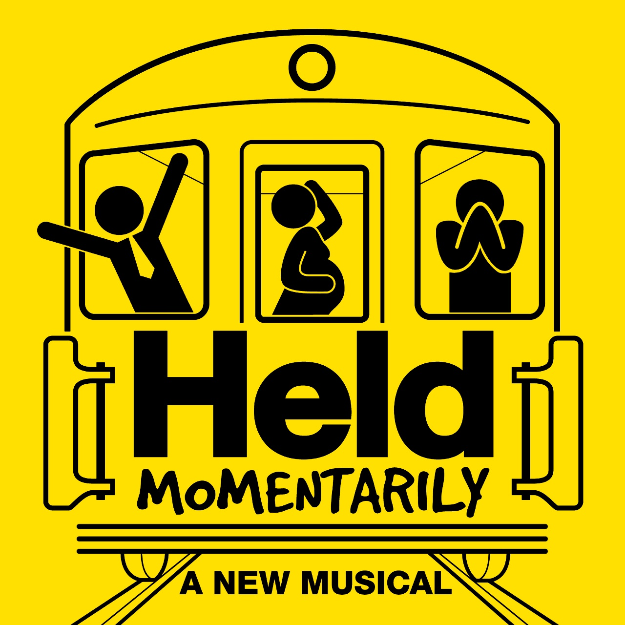 HELD MOMENTARILY - Trapped in the bowels of the New York City subway system, six strangers discover it's not just the train that's stuck. An outrageous musical ride about making connections, living in the moment, and moving on in life. Oh, and one more thing: a woman just went into labor.